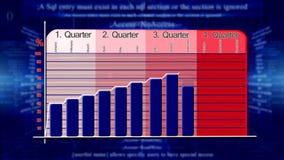 Abstracte economische grafiek als achtergrond vector illustratie