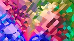 Abstracte eenvoudige blauwe rode lage poly 3D oppervlakte als CG-achtergrond Zachte geometrische lage polymotieachtergrond met zu stock illustratie