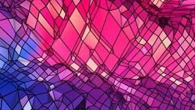 Abstracte eenvoudige blauwe rode lage poly 3D oppervlakte als ruimteachtergrond Zachte geometrische lage polymotieachtergrond met royalty-vrije illustratie