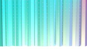 Abstracte eenvoudige blauwe roze lage poly 3D gordijnen en vliegende witte kristallen als spelachtergrond Zachte geometrische lag vector illustratie