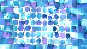 Abstracte eenvoudige blauwe violette lage poly 3D gespleten oppervlakte als ruimteachtergrond Zachte geometrische lage polymotiea stock illustratie