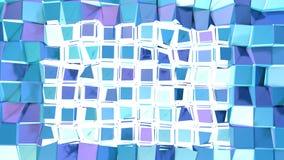 Abstracte eenvoudige blauwe violette lage poly 3D gespleten oppervlakte als technologieachtergrond Zachte geometrische lage polym vector illustratie