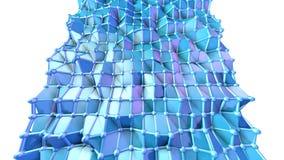 Abstracte eenvoudige blauwe violette lage poly 3D oppervlakte als cyber achtergrond Zachte geometrische lage polymotieachtergrond stock illustratie
