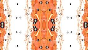 Abstracte eenvoudige 3D achtergrond in oranje gradiëntkleur, lage polystijl als moderne geometrische achtergrond of wiskundig royalty-vrije illustratie
