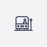 Abstracte eenvoudige ontwerpbus bij de post stock illustratie