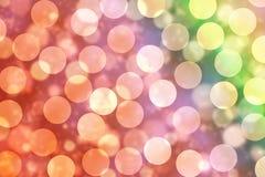 Abstracte Elegante Bokeh-Lichten, de Achtergrond van Kerstmisbokeh Royalty-vrije Stock Afbeeldingen