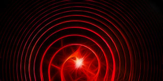 Abstracte elegante rode cirkels met bliksem Royalty-vrije Stock Foto's