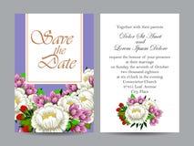 Abstracte elegantieuitnodiging met bloemenachtergrond Royalty-vrije Stock Foto's