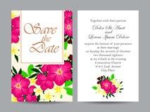 Abstracte elegantieuitnodiging met bloemenachtergrond Stock Foto's