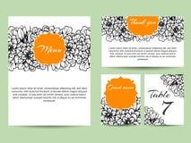 Abstracte elegantieuitnodiging met bloemenachtergrond Royalty-vrije Stock Afbeeldingen