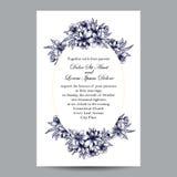 Abstracte elegantieuitnodiging met bloemenachtergrond Stock Fotografie