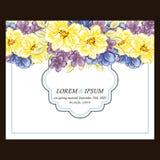 Abstracte elegantieuitnodiging met bloemenachtergrond Royalty-vrije Stock Foto