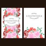 Abstracte elegantieuitnodiging met bloemenachtergrond Royalty-vrije Stock Fotografie