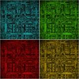 Abstracte elektrische kringsachtergrond Stock Afbeeldingen