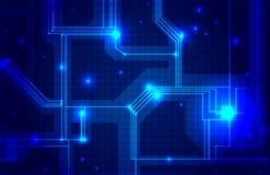 Abstracte elektronika blauwe achtergrond royalty-vrije illustratie