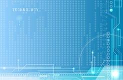 Abstracte elektronika blauwe achtergrond vector illustratie