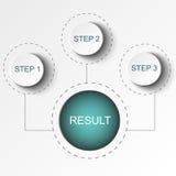 Abstracte elementen van grafiek, diagram met stappen, opties, delen of processen Vector bedrijfsmalplaatje voor presentatie Stock Fotografie