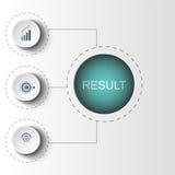 Abstracte elementen van grafiek, diagram met stappen, opties, delen of processen Vector bedrijfsmalplaatje voor presentatie Royalty-vrije Stock Foto
