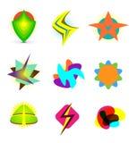 Abstracte embleemsymbolen Stock Fotografie