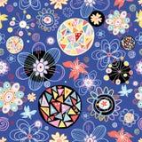 Abstracte en bloementextuur Royalty-vrije Stock Afbeeldingen