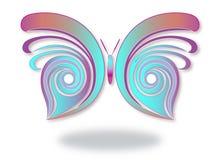 Abstracte en kleurrijke vlinder Stock Foto