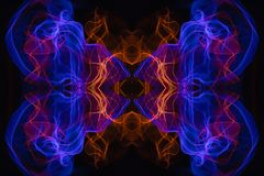 Abstracte en symmetrische textuur royalty-vrije illustratie