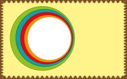 Abstracte etiket en brochure vector illustratie