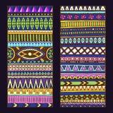 Abstracte Etnische Patroonkaarten op Houten Achtergrond Royalty-vrije Stock Afbeelding