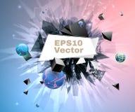 Abstracte explosie met banner Vector Illustratie