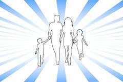 Abstracte familie Stock Afbeelding