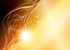 Abstracte fantasie gouden achtergrond Stock Afbeeldingen