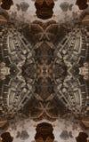 Abstracte fantastische affiche of achtergrond Futuristische mening van binnenuit van fractal Architecturaal Patroon 3d Royalty-vrije Stock Fotografie