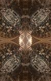 Abstracte fantastische affiche of achtergrond Futuristische mening van binnenuit van fractal Architecturaal Patroon 3d Stock Foto's
