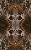 Abstracte fantastische affiche of achtergrond Futuristische mening van binnenuit van fractal Architecturaal Patroon 3d Royalty-vrije Stock Foto