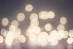 Abstracte feestelijke achtergrond Schitter uitstekende lichtenachtergrond w Stock Foto