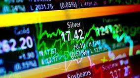 Abstracte financiële achtergrond stock videobeelden
