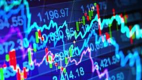Abstracte financiële achtergrond stock video