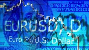 Abstracte financiële achtergrond stock footage
