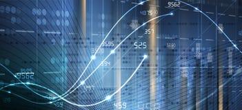 Abstracte financiën en bedrijfsachtergrond met grafiek stock illustratie