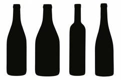 Abstracte flessen Royalty-vrije Stock Afbeelding