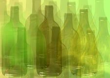 Abstracte flessenachtergrond Royalty-vrije Stock Afbeelding