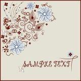 Abstracte floristische achtergrond met uw tekst Royalty-vrije Stock Afbeelding