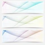 Abstracte footer van het de kopbalweb van de swooshlijn reeks Royalty-vrije Stock Afbeeldingen