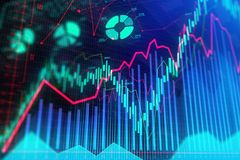 Abstracte forex achtergrond Royalty-vrije Stock Foto