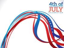Abstracte four juli-vieringsachtergrond Stock Afbeeldingen