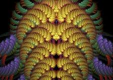 Abstracte Fractal Achtergrond Stock Afbeeldingen