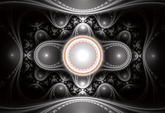 Abstracte Fractal Achtergrond Royalty-vrije Stock Afbeelding