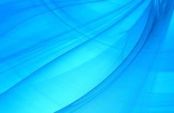 Abstracte fractal achtergrond in blauw marien licht Royalty-vrije Stock Foto