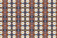 Abstracte fractal achtergrond - camomiles en parels Royalty-vrije Stock Foto