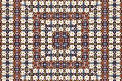 Abstracte fractal achtergrond - camomiles en parels Royalty-vrije Stock Afbeelding